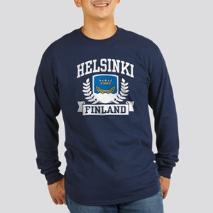 Helsinki Finland Long Sleeve Dark T-Shirt
