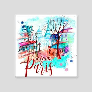 Je T'aime Paris Eiffel Tower Sticker