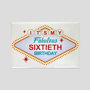 Las Vegas Birthday 60 Rectangle Magnet