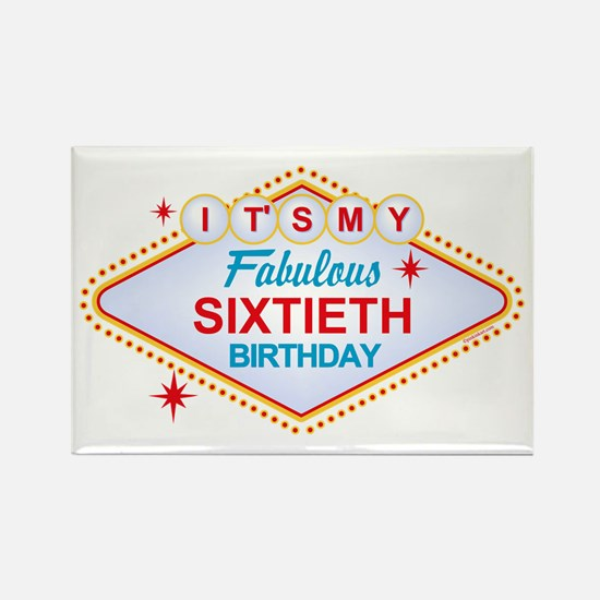 Las Vegas Birthday 60 Rectangle Magnet