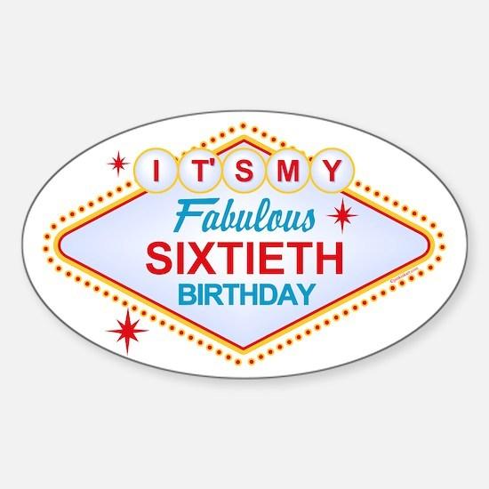 Las Vegas Birthday 60 Sticker (Oval)