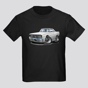 1966 Coronet White Car Kids Dark T-Shirt