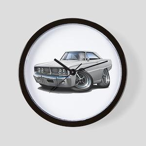 1966 Coronet White Car Wall Clock