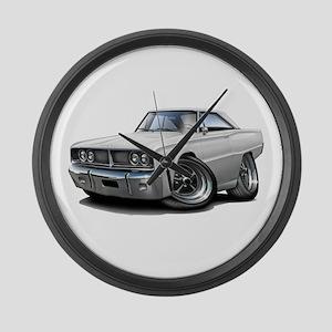 1966 Coronet White Car Large Wall Clock