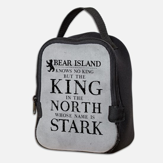 Bear Island King In The North Neoprene Lunch Bag