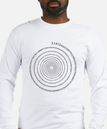 Pi Spiral Long Sleeve T-Shirt