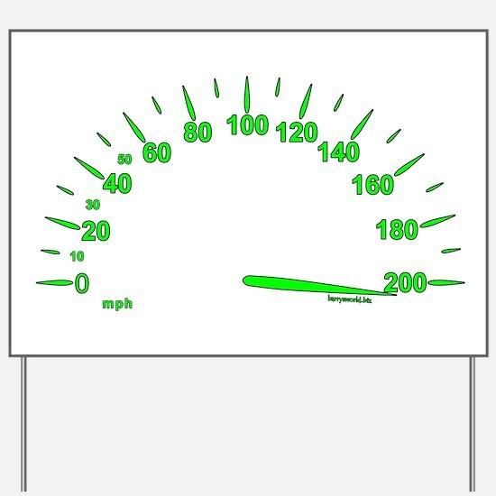 Speed Yard Sign