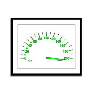 Speed Framed Panel Print