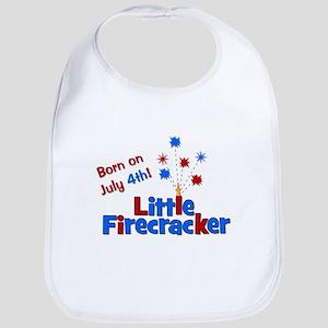 Born on July 4th Little Firec Bib