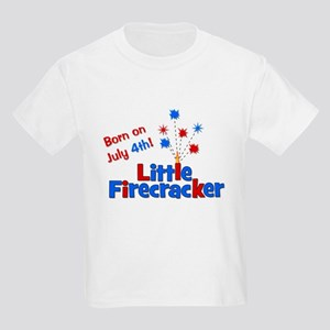 Born on July 4th Little Firec Kids Light T-Shirt