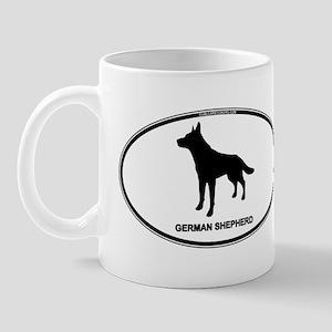 German Shepherd Euro Oval Mug