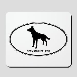 German Shepherd Euro Oval Mousepad