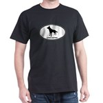 German Shepherd Euro Oval Dark T-Shirt