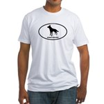 German Shepherd Euro Oval Fitted T-Shirt