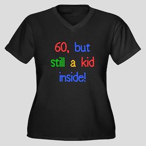 Fun 60th Birthday Humor Women's Plus Size V-Neck D