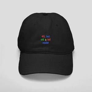 Fun 40th Birthday Humor Black Cap