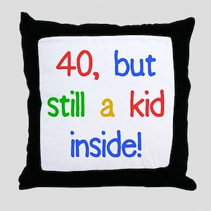 Fun 40th Birthday Humor Throw Pillow