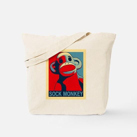 Sock Monkey Hope Tote Bag