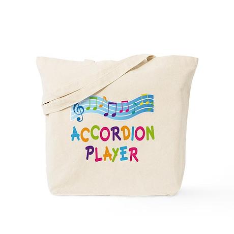 Musical Accordion Player Tote Bag
