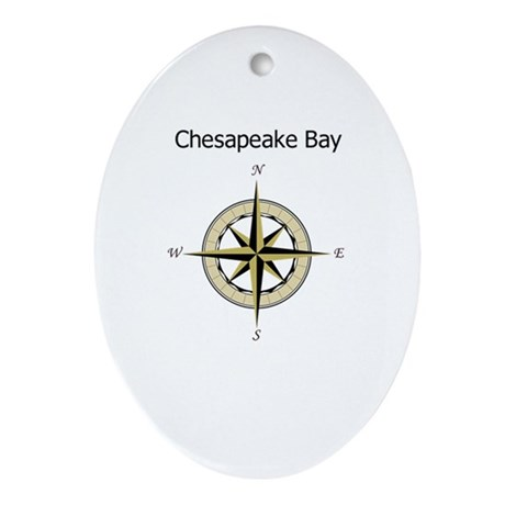 Chesapeake Compass Rose Ornament (Oval)