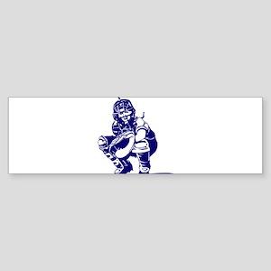 CATCHER *1* {blue} Sticker (Bumper)
