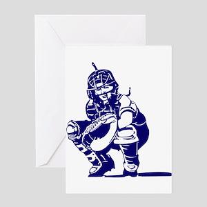CATCHER *1* {blue} Greeting Card