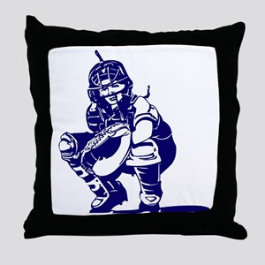 CATCHER *1* {blue} Throw Pillow