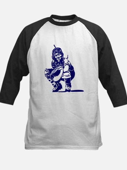 CATCHER *1* {blue} Kids Baseball Jersey