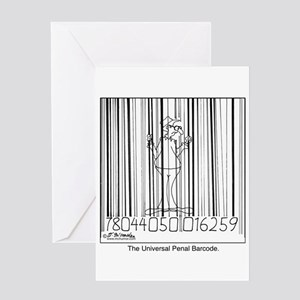 Universal Penal Barcode Greeting Card