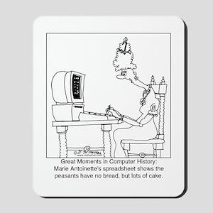 Marie Antoinette's spreadsheet Mousepad