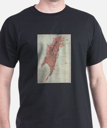 Vintage Map of Bombay India (1895) T-Shirt