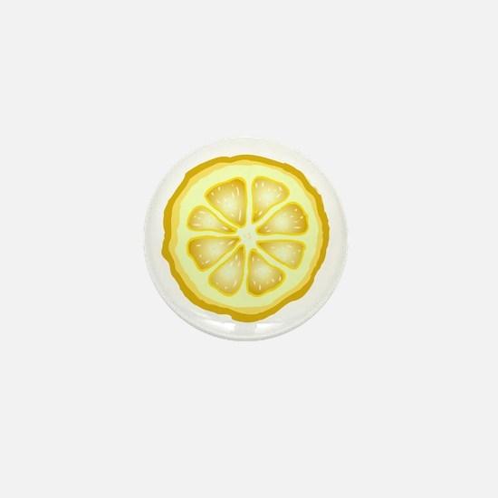 Lemon Slice Mini Button