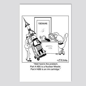 Part #AB5 Missile or Ink Cartridge Postcards (Pack