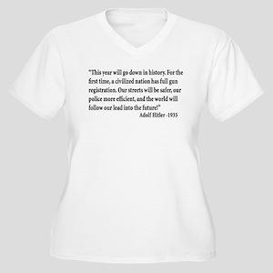 Gun Control Women's Plus Size V-Neck T-Shirt