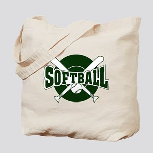 SOFTBALL *1* {green} Tote Bag