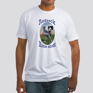 redneck horseshoe pitching Fitted T-Shirt