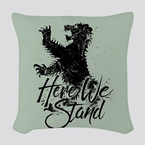Mormont Here We Stand Woven Throw Pillow