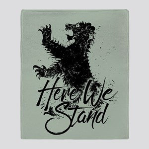 Mormont Here We Stand Throw Blanket