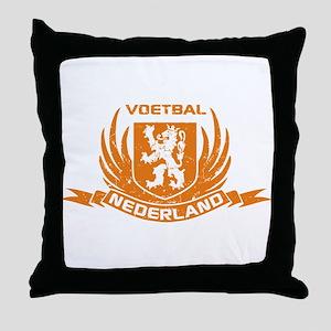Voetbal Nederland Crest Throw Pillow