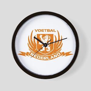 Voetbal Nederland Crest Wall Clock