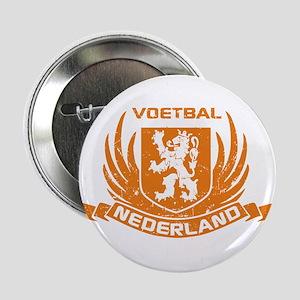 """Voetbal Nederland Crest 2.25"""" Button"""