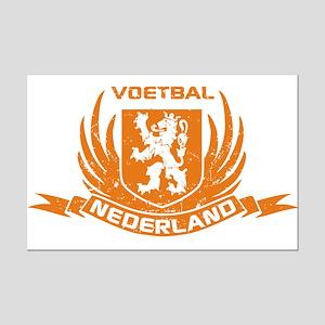 Voetbal Nederland Crest Mini Poster Print