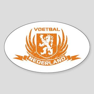 Voetbal Nederland Crest Sticker (Oval)