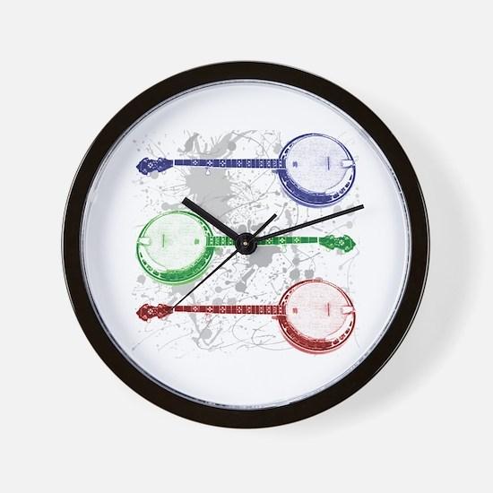 Banjo Country Wall Clock