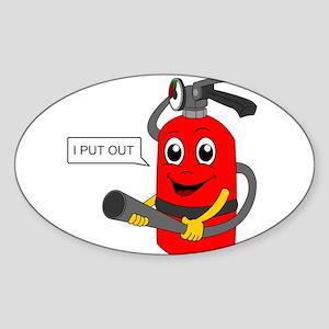 i put out, cartoon Sticker (Oval)