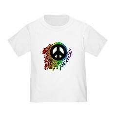 Rainbow Peace Swirl T