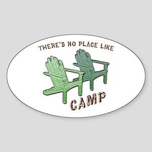 No Place Like Camp - Sticker (Oval)