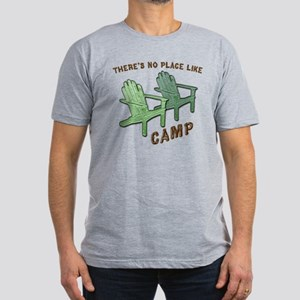 No Place Like Camp - Men's Fitted T-Shirt (dark)