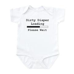 Dirty Diaper Loading Infant Bodysuit