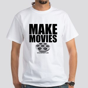 Make Movies White T-Shirt
